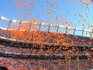 It was all Orange and Sunshine at kickoff that day.