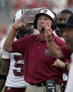 South Carolina coach Steve Spurrier
