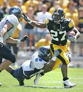 Jewel Hampton was the clear choice to be the Hawkeyes starting running back