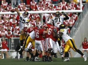Defense leads the way for this Iowa squad, as exemplified here by this blocked pass